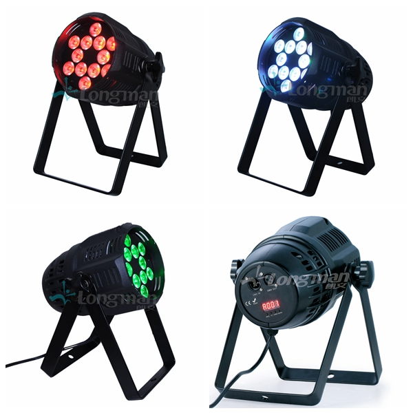 4 different colors of F460 indoor led par can