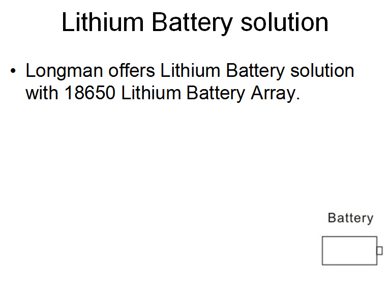 lithium battery powered lighting device