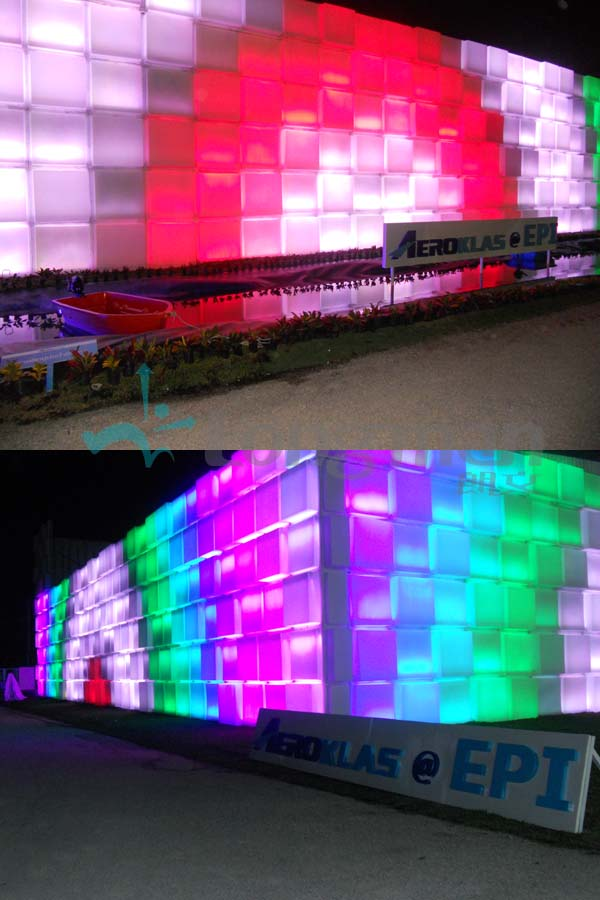 Outdoor RGBW LED pixel wall washer
