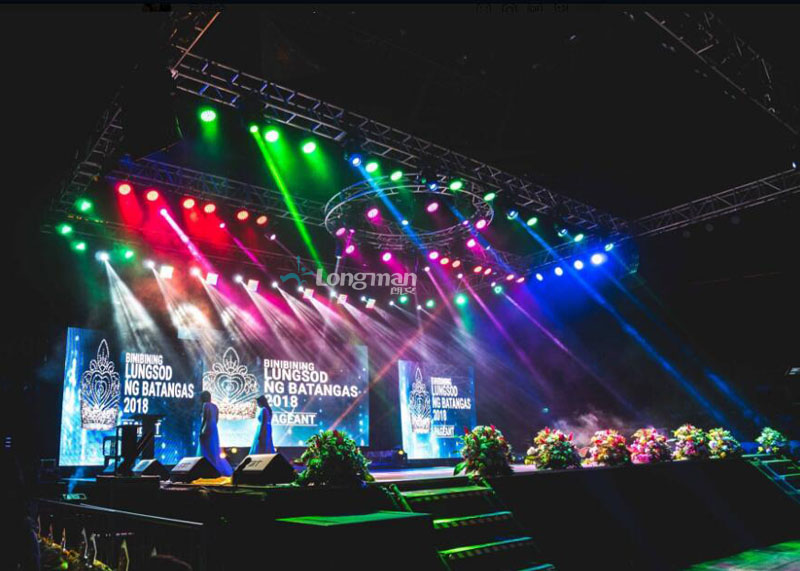 Stage lights and stage truss used for Philippine